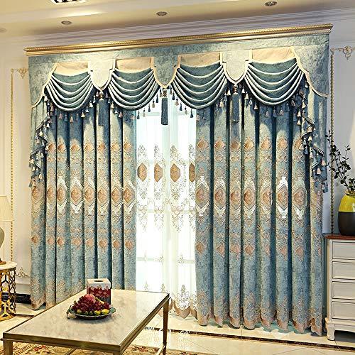 NA High-End-Vorhang im europäischen Stil Bestickt High-End-Wohnzimmer Schlafzimmer Beschattung Boden fertiges Produkt luxuriöse Atmosphäre einfach