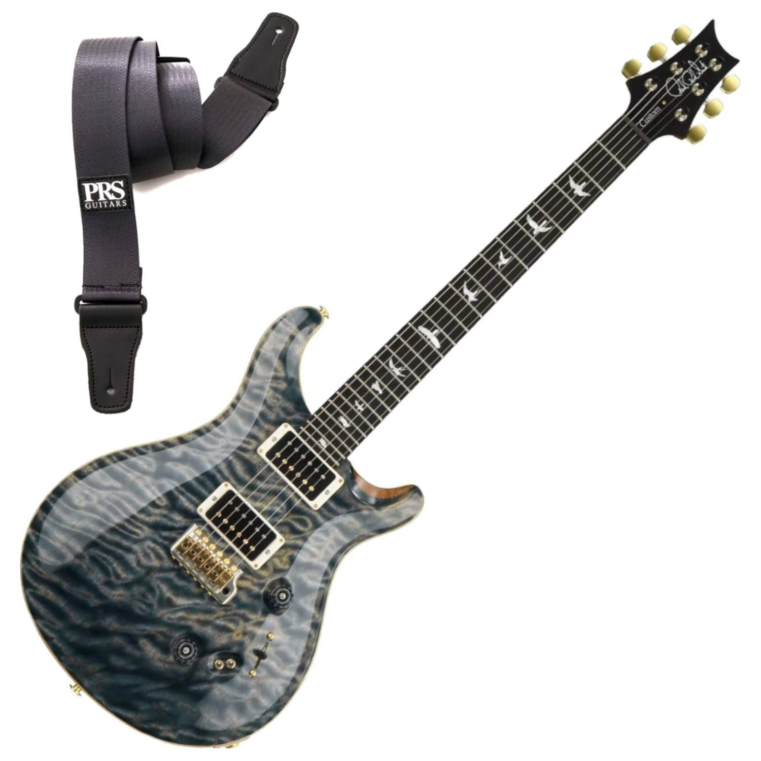 Cheap PRS CUSTOM 24-08 FADED WHALE BLUE 10 TOP Electric Guitar w/Strap Black Friday & Cyber Monday 2019