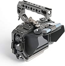 (Tilta Gray) TILTA TA-T01-B-G-2 BMPCC 4K / BMPCC 6K Cage Blackmagic Pocket Cinema Camera 4K / 6K Cage Rig + Half Sunhood (Basic 2 Kit)