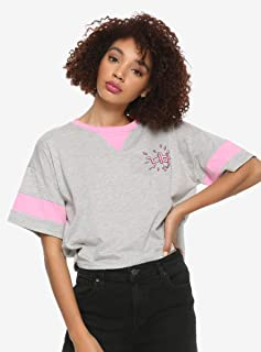 Her Universe Overwatch D.Va Girls Crop T-Shirt Pink