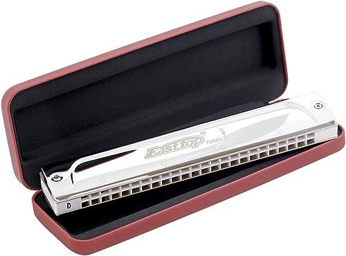 Easttop 24 trous professionnel tremolo harmonica T2406S orgue à bouche instrument de musique (key of D)