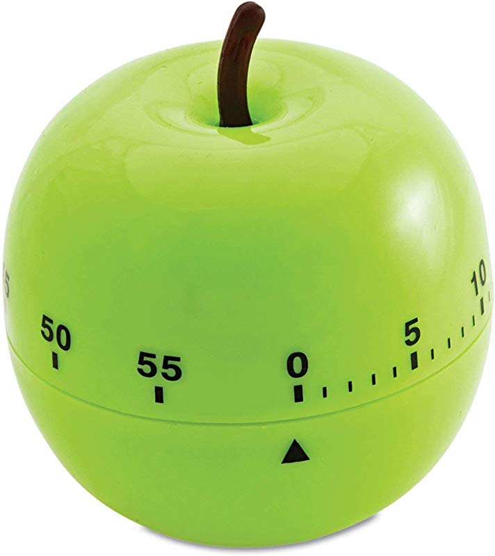 Creative Twist 60 Minute Green Apple Shaped Kitchen Timer