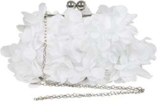 Petal Ornament Kissing Lock Wedding Party Evening Bag With Chain Women