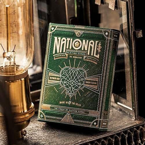 Mazzo di carte Green National Playing Cards - Mazzi di carte - Giochi di Magia e Prestigio