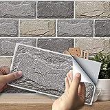 Frolahouse Adhesivo de pared de ladrillo americano resistente al calor para azulejos de vinilo para cocina, pared, escaleras, muebles, escaleras, decoración del hogar