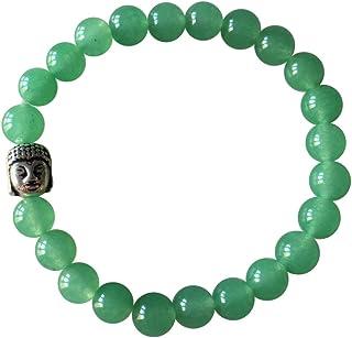 'Shanti by MIRA' Gemstone Chakra Bead Buddha Bracelet Ethically Sourced from India Handmade Jewellery for Men Women in Gif...