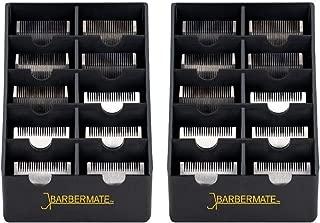 2 Pack BarberMate Blade Rack Storage Tray - Holds 10 Clipper Blades (Black)