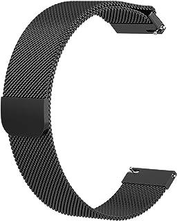 HOMYL 20mm Mesh Milanese Loop Bracelet Stainless Steel Watch Band for Pebble 2 - Black