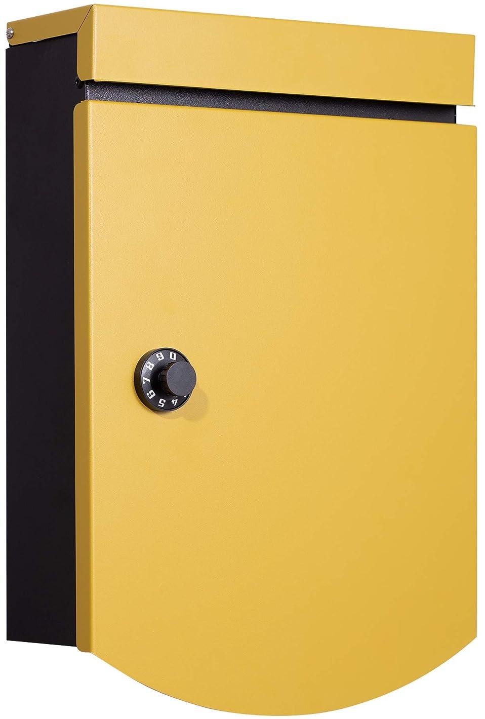 定刻決定する優遇カバポスト ポスト ダイヤル おしゃれポスト ポスト ダイヤル 郵便ポスト スイット ダイヤル錠 黄色 W18SUI