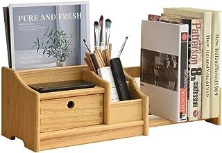 Étagère de bureau en bois entièrement assemblée – Étagère réglable pour bureau avec tiroirs – Station de rangement extensi...