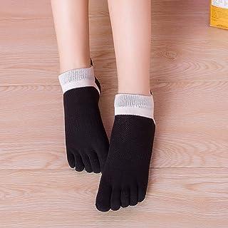 Calcetines para mujer de cinco dedos, corte bajo, tobillo de tobillo, mezcla de algodón, transpirable, a la moda, nueva llegada a cinco dedos calcetines 20 cm negro