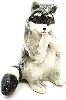 Animal Miniature Handmade Raccoon Statuette Collectibles Gift