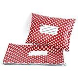 Hamimelon - 50pcs Bolsas Sacos Sobres Postales para Envíos por Correo Bolsas de Plástico, Rojo con puntos blancos (150X230MM)