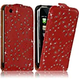 Seluxion - Housse coque Etui Diamant pour Apple Iphone 3G / 3GS couleur Rouge