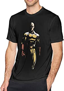 Mens Cool One Punch Man Superman T Shirts Black