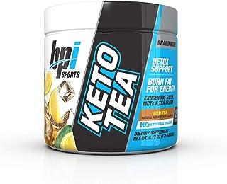BPI Sports Keto Tea – Burn Fat, Hydration, Energy, Focus – BHB Salts – MCTs – EGCG – Detox – Keto Diet Support – Diuretic – for Men & Women – No Artificial Colors – Iced Tea – 25 Servings – 6.17 oz.