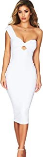 ADYABY One Shoulder Bandage Sexy Dress Backless for Party Night Club Celebrity Cocktail