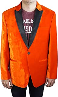 Kingsman Orange Tuxedo with Black Peak Lapel - Halloween Deal
