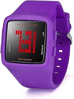 Siviki Women Waterproof Watch LED Digital Sports Watch Girls Silicone Square Wristwatch