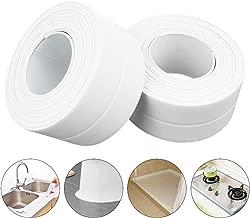 Caulk Strip for Bathtub Pack of 2 Self Adhesive Caulk Tape Waterproof Sealing Tape Edge Protector for Kitchen Countertop, Sink, Bathturb, Toilet, Gas Stove and Bathroom