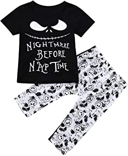 98e971d1b LNGRY Baby Clothes,Toddler Infant Boys Halloween Letter T-Shirt Tops+Ghost  Print