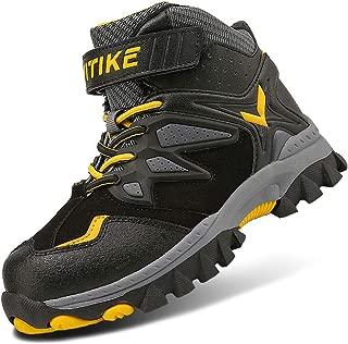 Kids Hiking Boots Boys Girls Shoes Winter Snow Sneaker Outdoor Walking Antiskid Steel Buckle Sole