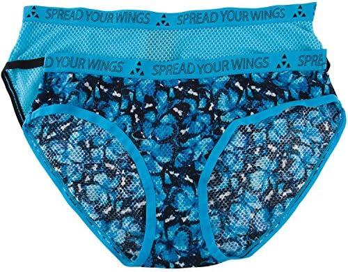 Balanced Tech Women s Printed Micro Mesh Bikini Panty 2 Pack Monarch Butterfly Small product image
