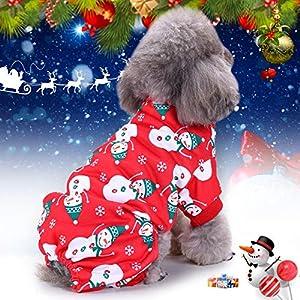 Idefair de Noël? Animal Domestique Chien Chiot Vêtements, Flocon de Neige Sweat à Capuche Manteau Pull Veste, Pet Dress Up pour Small Medium Large Dog Cat Kitty S/M/L/XL