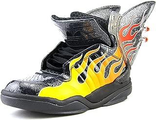 Adidas Jeremy Scott Shark Flame Men US 6 Black Sneakers
