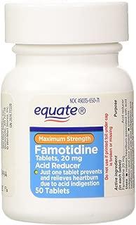 Equate - Acid Reducer, Maximum Strength, Famotidine 20 mg, 100 Tablets