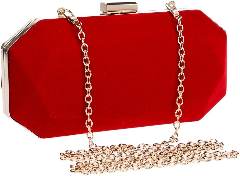 b3e3cb4af Ladies Suede Evening Bag Handbag Wedding Clutch (color Red) Purse Handbag  nqthdo7492-Sporting goods