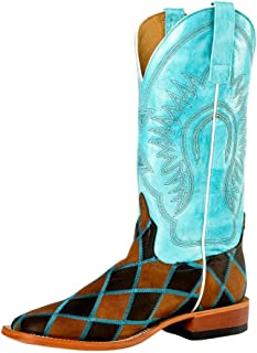 Horse Power Mens Insane in the Membrane Patchwork Cowboy Boots