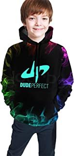 Doing-Perfect Logo Fashion Youth Hoodies 3D Print Hooded Pullover Unique Sweatshirts Hoody for Boys Girls Black
