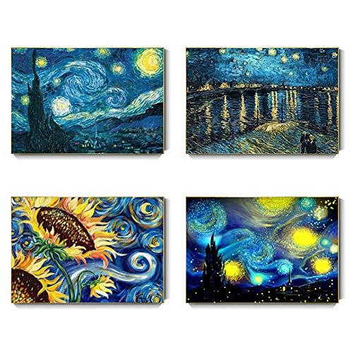 Showlovein Juego completo de 4 pinturas de diamante 5D, 30 x 40...