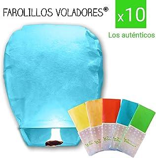 FAROLILLOS VOLADORES Colores Variados. Pack 10 Unidades