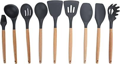 Kitchen Utensil Set, Non‑Stick Silicone Cooking Gadgets Cooking Utensils, with Wooden Handle Cookware Set Kitchen Utensils...