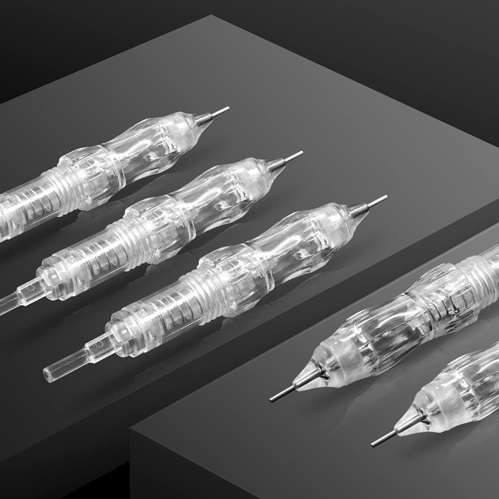 SMax 10Pcs Semi-Permanent Makeup Tattoo Under blast sales Cartridge Topics on TV R Needle Tools