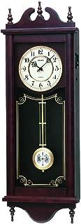 SEIKO CLOCK ( Seiko clock ) Classic wooden frame long pendulum wall clock ( tea ) RQ309A