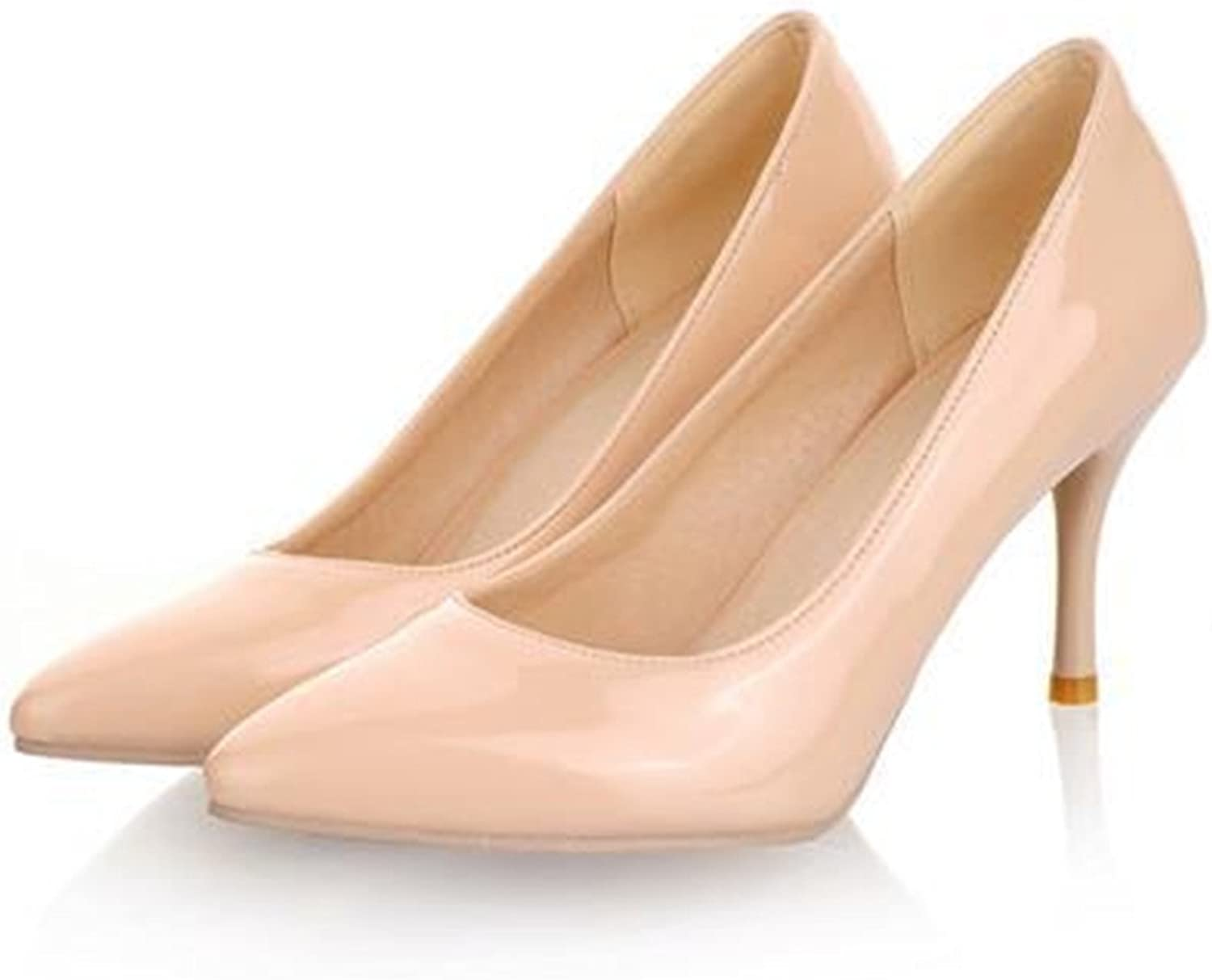 Gome-z Size 34-45 2018 High Heels Women Pumps Thin Heel Classic White Red Nede Beige Sexy Prom Wedding shoes