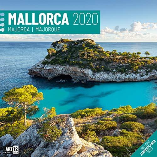 Mallorca 2020, Wandkalender / Broschürenkalender im Hochformat (aufgeklappt 30x60 cm) - Geschenk-Kalender mit Monatskalendarium zum Eintragen