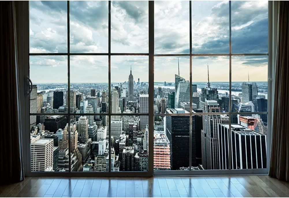 Haoyiyi 12x8ft Window View Boston Mall Background Building High Max 56% OFF Business Off