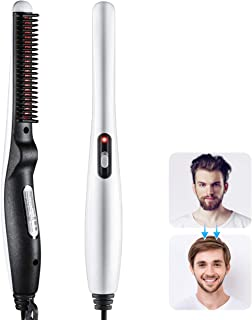 Quick Beard and Hair Straightening Brush, Ausale Electric Comb for Men with Side Hair Detangling, Curly Hair Straightening for Beard Style, Hair Style, Women Short Hair Straightening