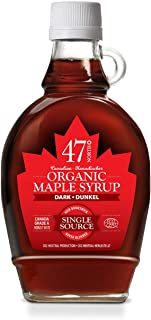 47 North Canadian Organic Maple Syrup, Single Source, Grade A, Amber Rich 250g