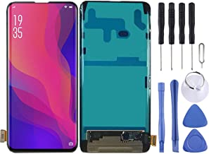 SHUHAN Mobile Phone Replacement Part LCD Screen And Digitizer Full Assembly For OPPO Find X Screen Repair Part for Oppo (Color : Black)