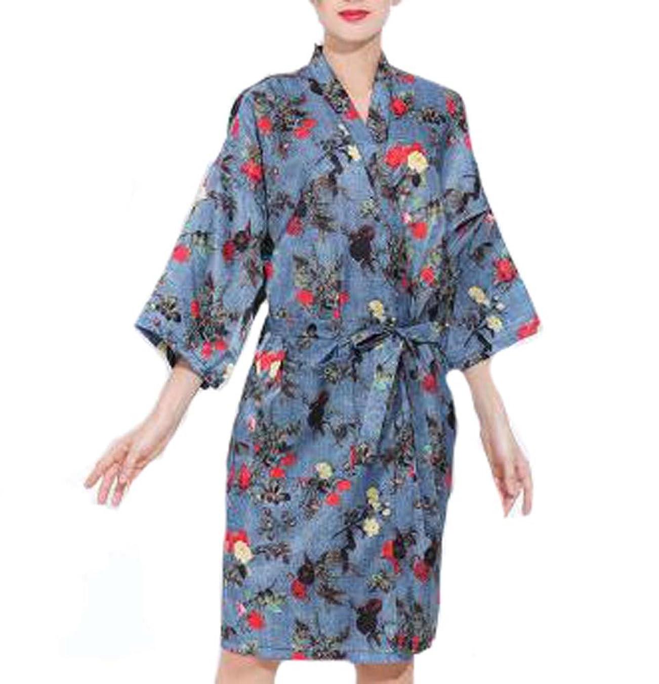 反抗陽気な振る舞う欧州スタイルのサロンクライアントガウンローブ、美容院用ドレス、デニムカラー