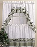 CHF & You Cottage Ivy Country Curtain Tier And Swag Set, Multi, 56-Inch X 36-Inch