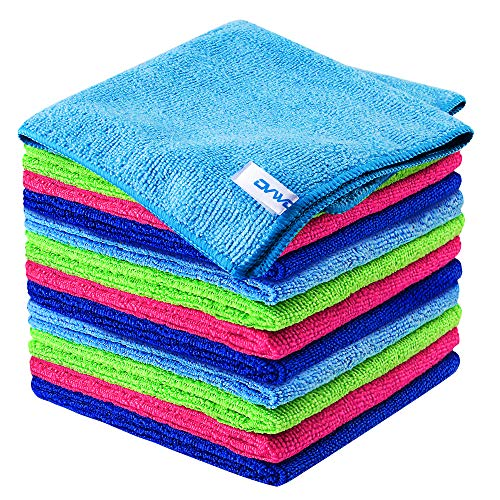12Pcs Premium Microfiber Cleaning Cloth by ovwo  Highly Absorbent Lint Free Scratch Free Reusable Cleaning Supplies  for Kitchen Towels Dish Cloths Dust Rag Cleaning Rags in Household Cleaning