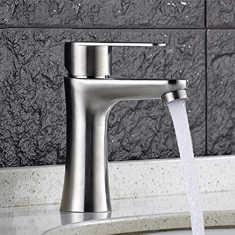 ETERNAL QUALITY Badezimmer Waschbecken Wasserhahn Messing Hahn Waschraum Mischer Mischbatterie 304 Edelstahl Waschbecken Waschtisch unter den heien und kalten Hand wash