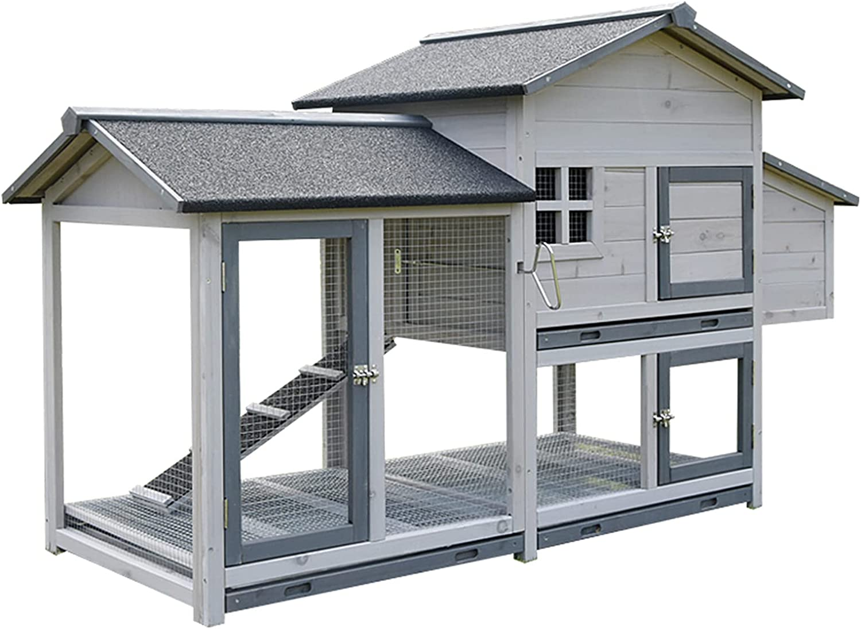 Outdoor Garden Direct stock discount Chicken coop Wooden c Max 68% OFF pet Elevated House
