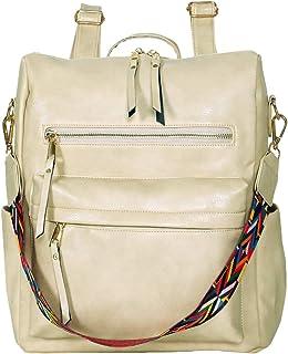 Women's Fashion Backpack Multipurpose Design Handbags and Shoulder Bag PU Leather Travel bag